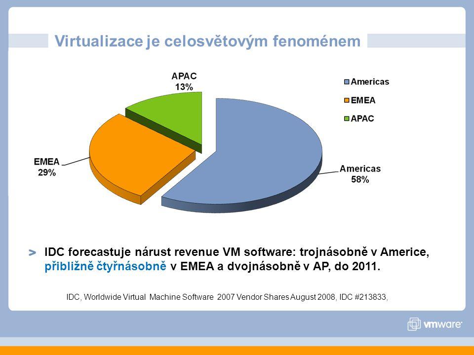 Virtualizace je celosvětovým fenoménem