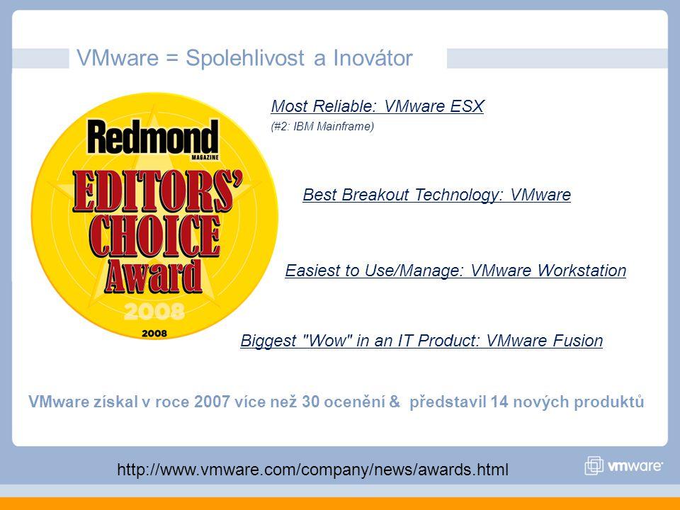 VMware = Spolehlivost a Inovátor