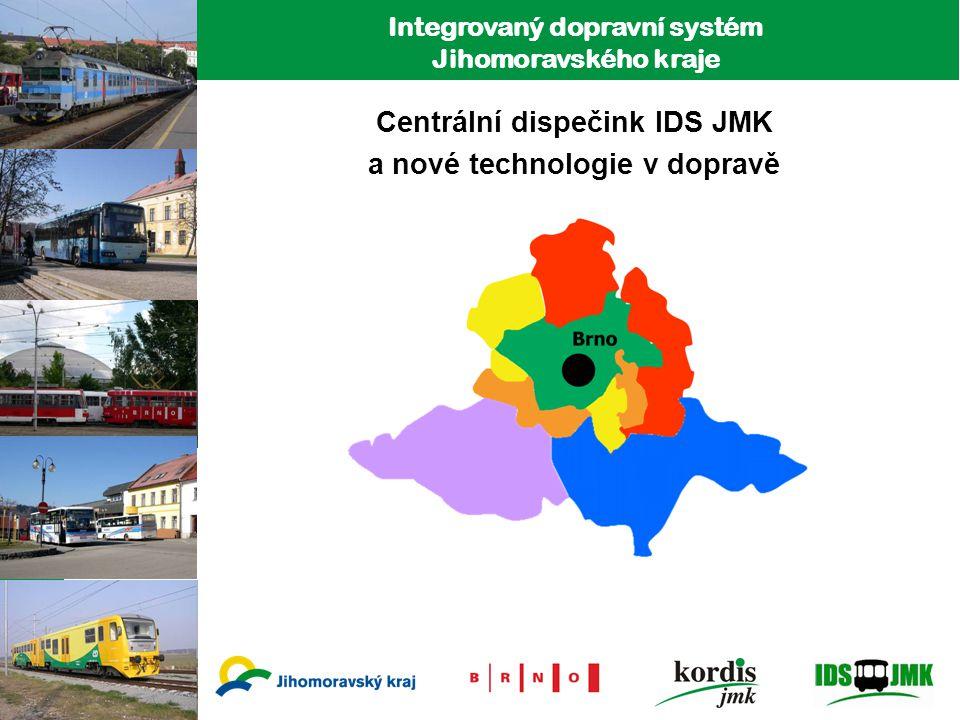 Centrální dispečink IDS JMK a nové technologie v dopravě