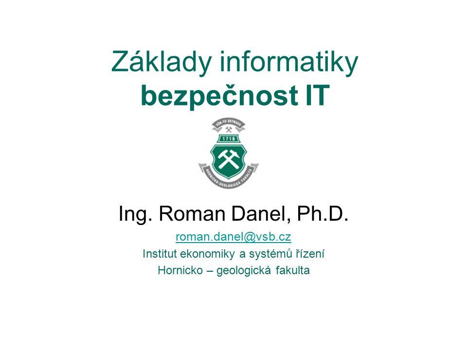 Základy informatiky bezpečnost IT