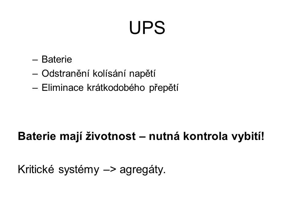 UPS Baterie mají životnost – nutná kontrola vybití!