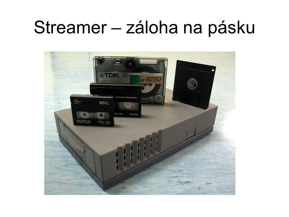 Streamer – záloha na pásku