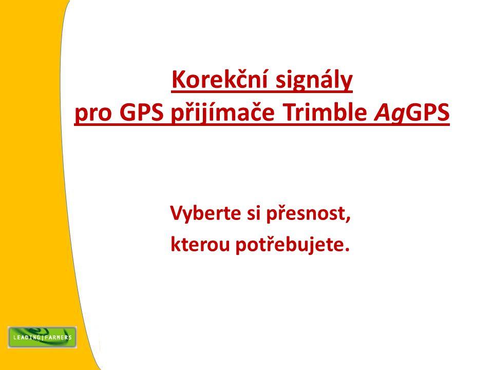 Korekční signály pro GPS přijímače Trimble AgGPS