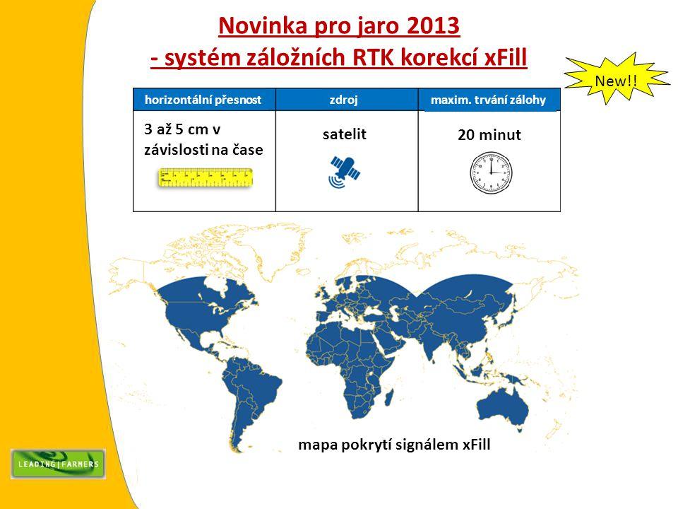 Novinka pro jaro 2013 - systém záložních RTK korekcí xFill