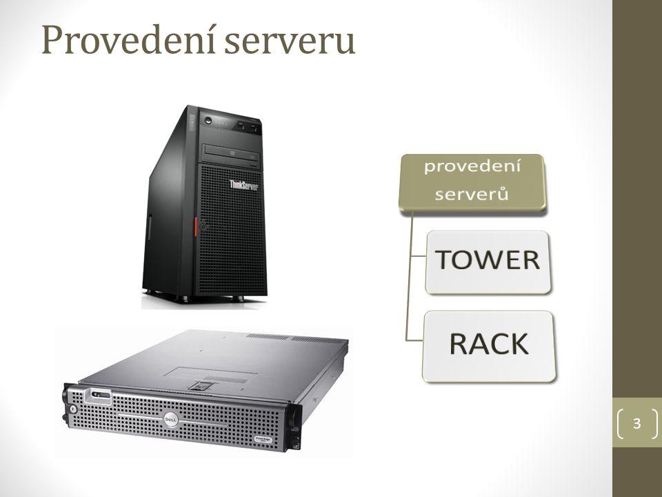Provedení serveru provedení serverů TOWER RACK