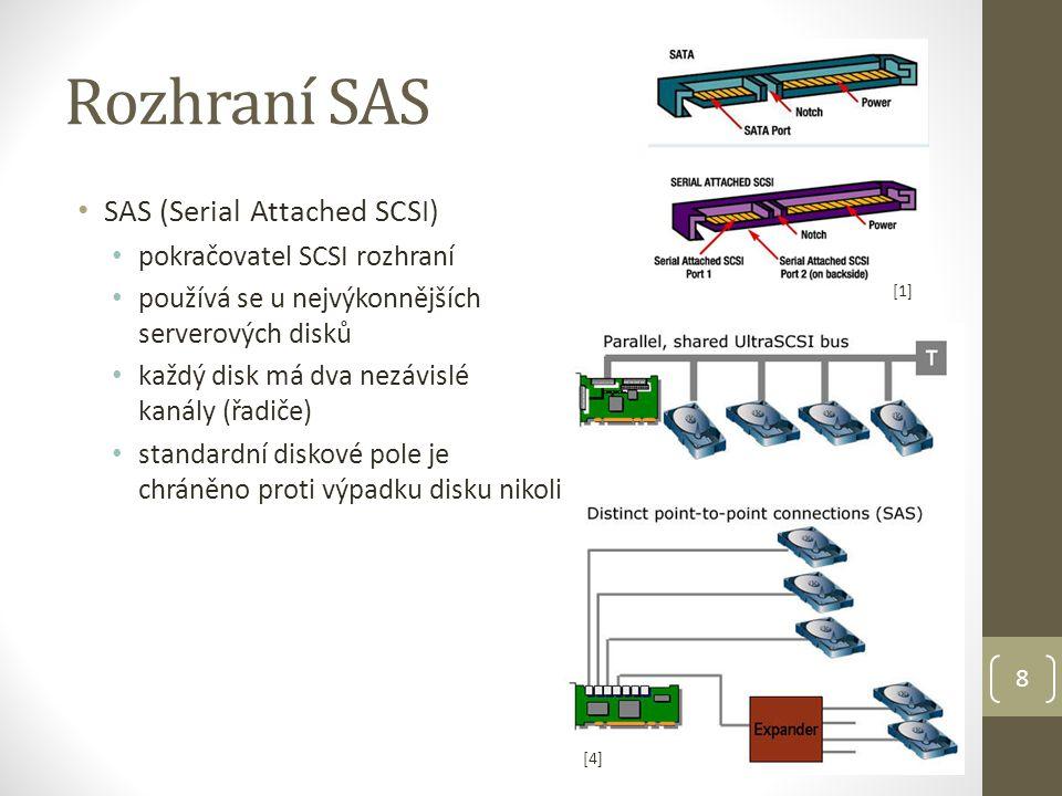 Rozhraní SAS SAS (Serial Attached SCSI) pokračovatel SCSI rozhraní