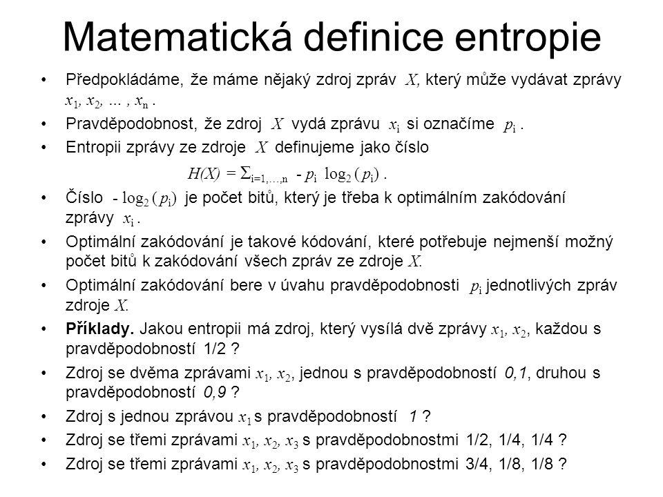 Matematická definice entropie