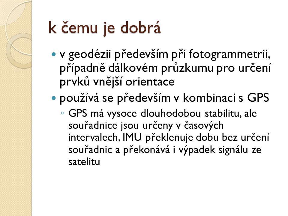 k čemu je dobrá v geodézii především při fotogrammetrii, případně dálkovém průzkumu pro určení prvků vnější orientace.