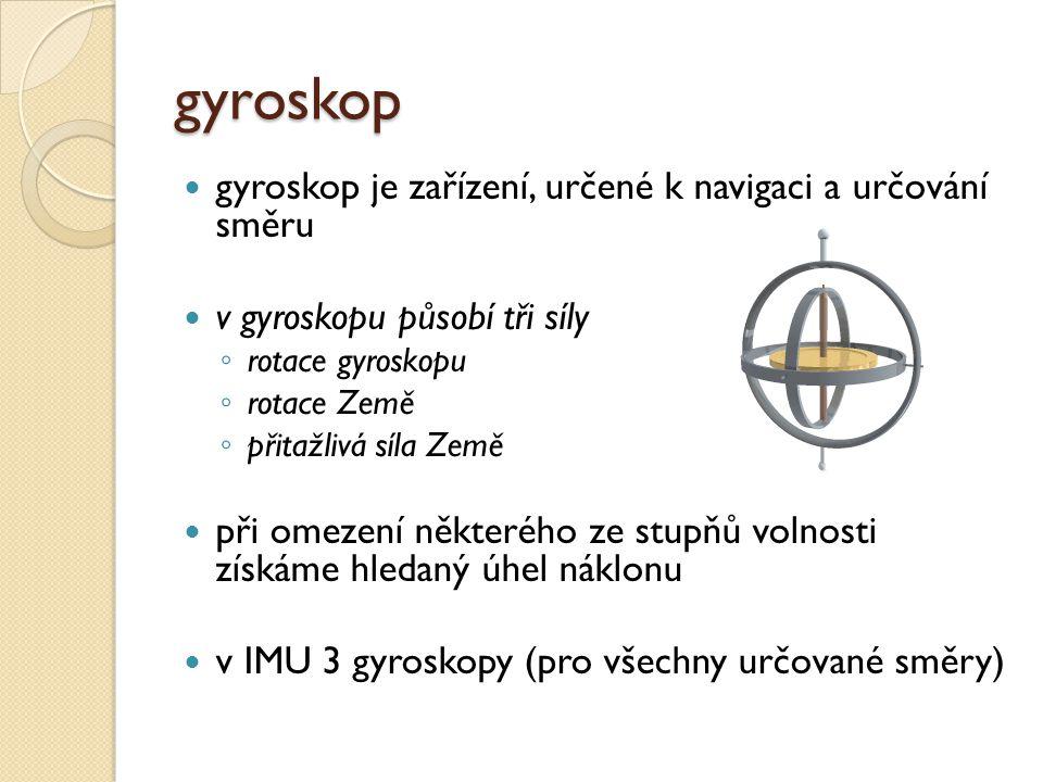 gyroskop gyroskop je zařízení, určené k navigaci a určování směru