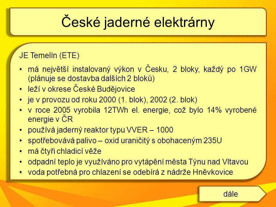 České jaderné elektrárny