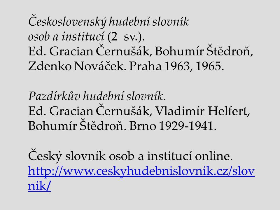 Československý hudební slovník