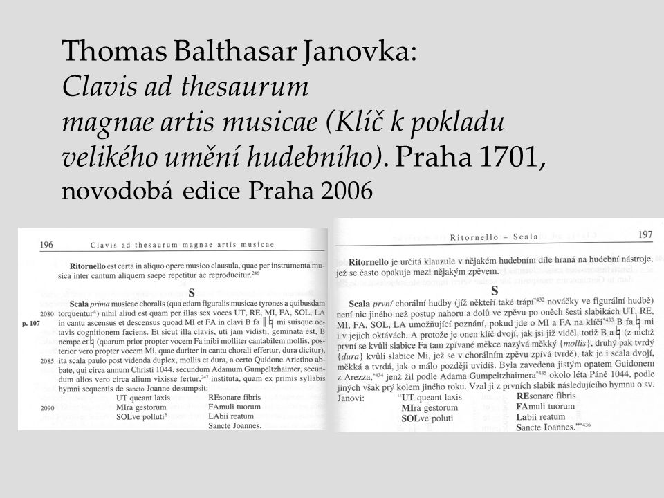 Thomas Balthasar Janovka: Clavis ad thesaurum
