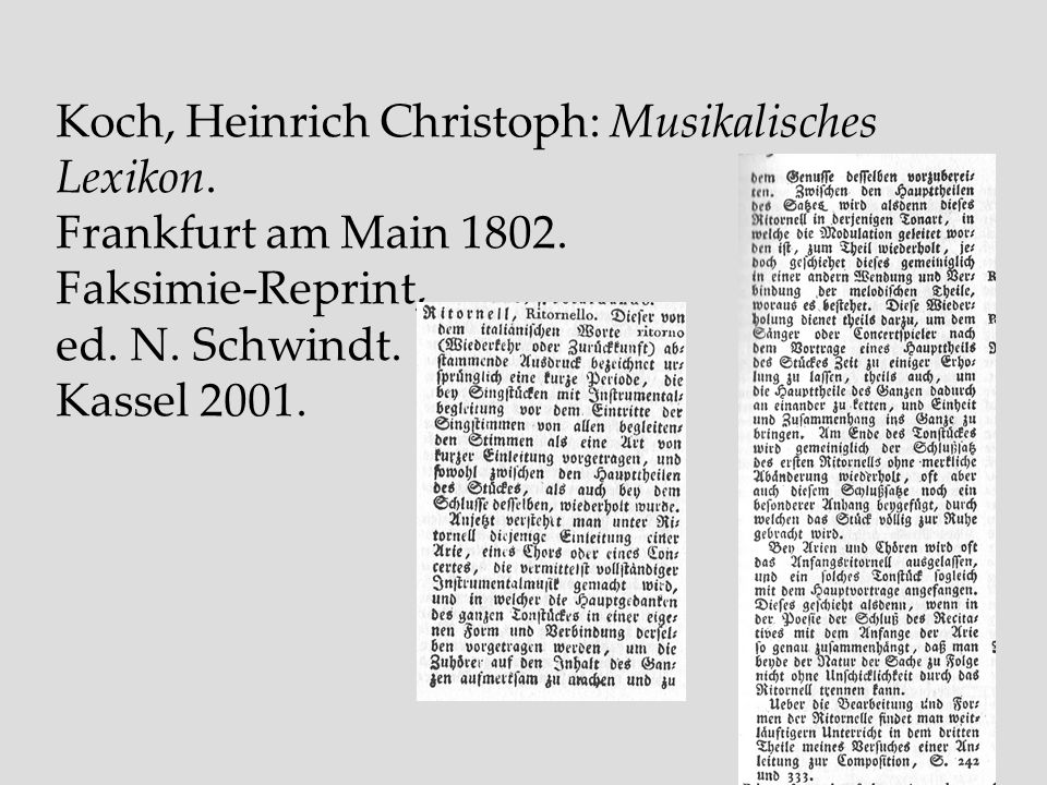 Koch, Heinrich Christoph: Musikalisches Lexikon.