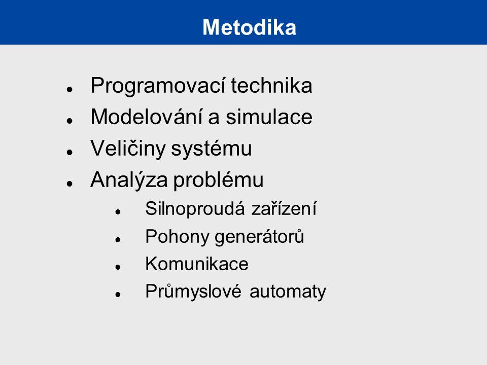 Programovací technika Modelování a simulace Veličiny systému