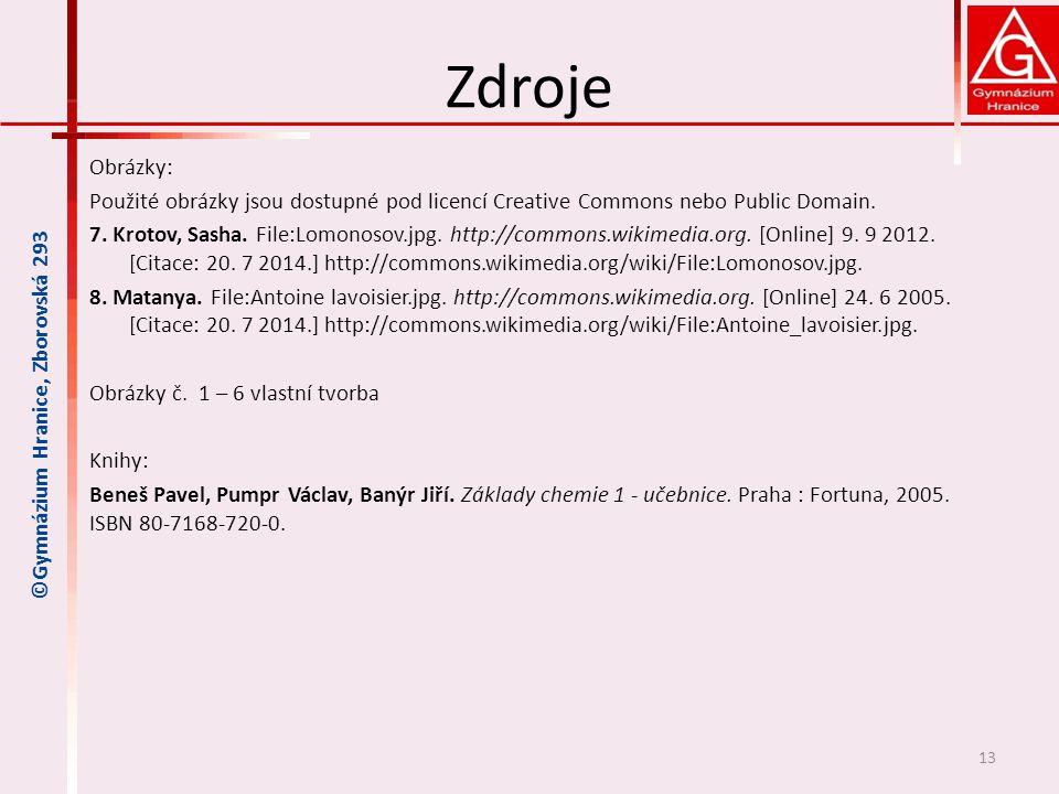 ©Gymnázium Hranice, Zborovská 293