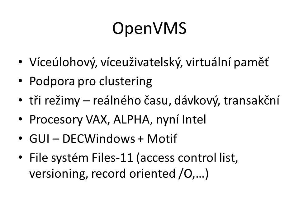 OpenVMS Víceúlohový, víceuživatelský, virtuální paměť