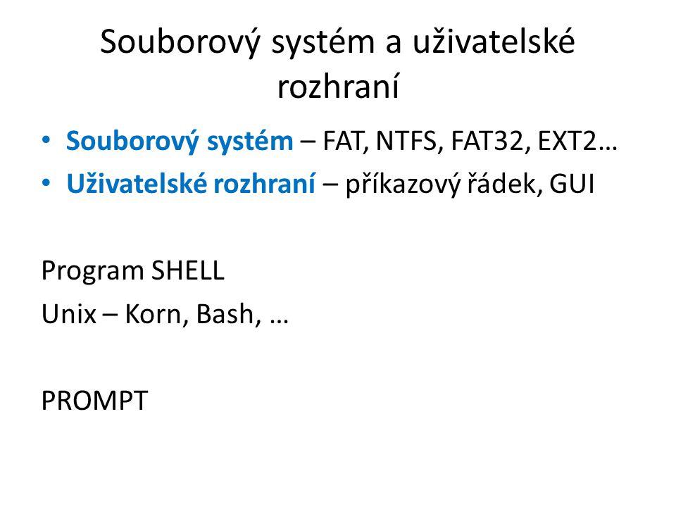 Souborový systém a uživatelské rozhraní