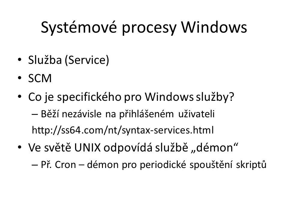 Systémové procesy Windows