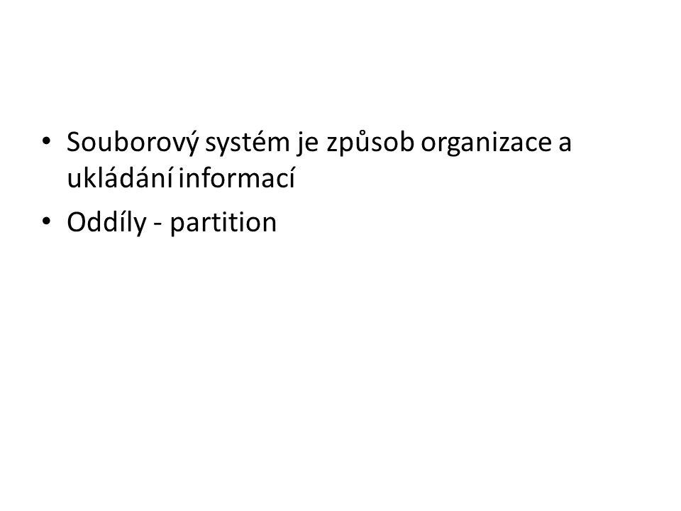 Souborový systém je způsob organizace a ukládání informací