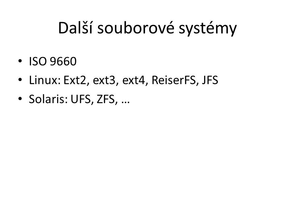 Další souborové systémy