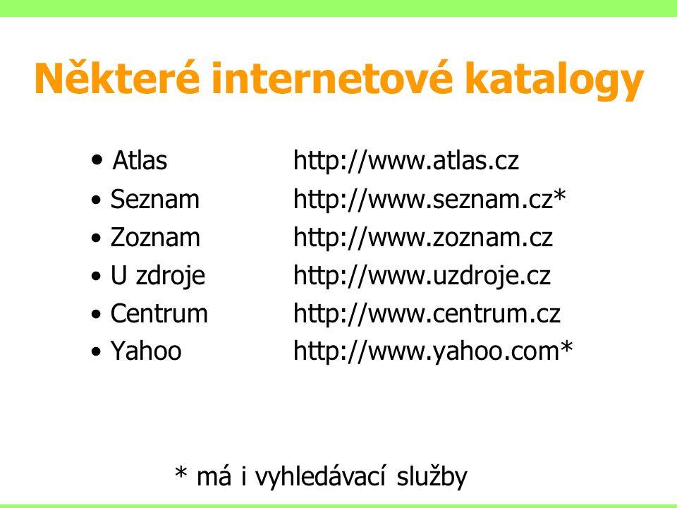 Některé internetové katalogy