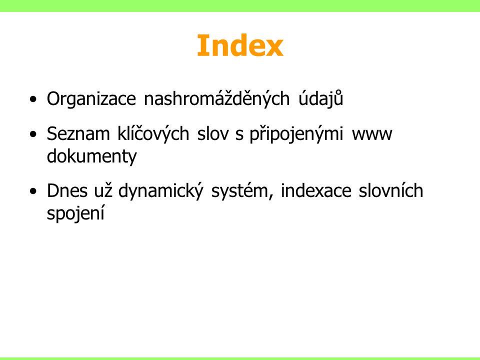 Index Organizace nashromážděných údajů