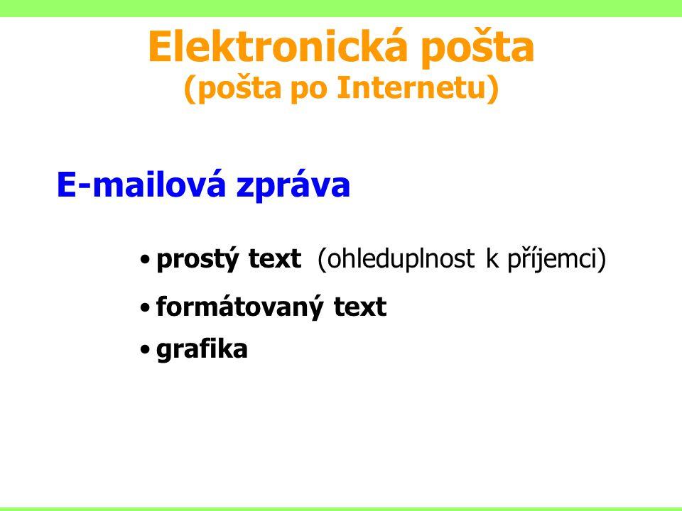 Elektronická pošta (pošta po Internetu)