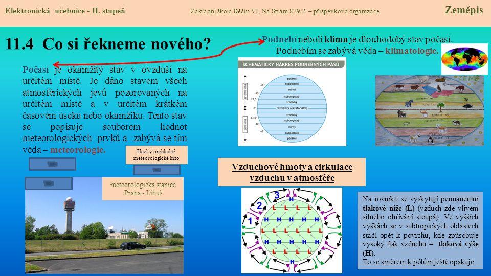 Vzduchové hmoty a cirkulace vzduchu v atmosféře