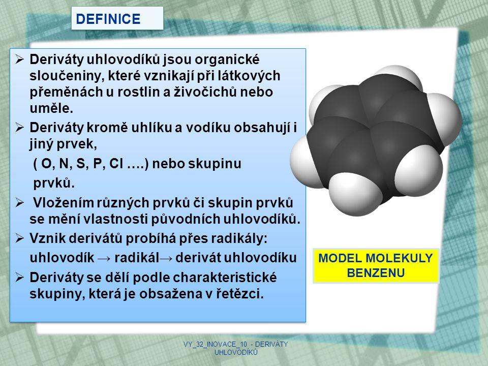 VY_32_INOVACE_10 - DERIVÁTY UHLOVODÍKŮ
