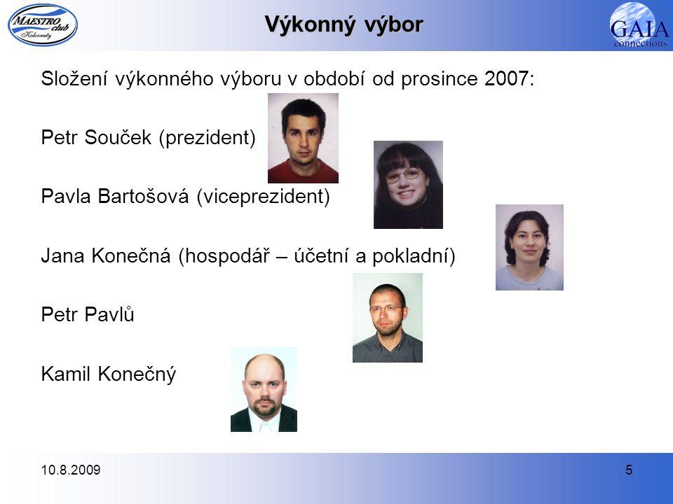 Výkonný výbor Složení výkonného výboru v období od prosince 2007: