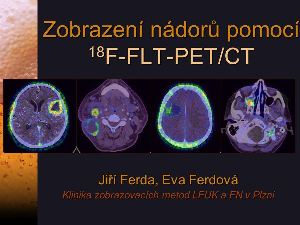 Zobrazení nádorů pomocí 18F-FLT-PET/CT