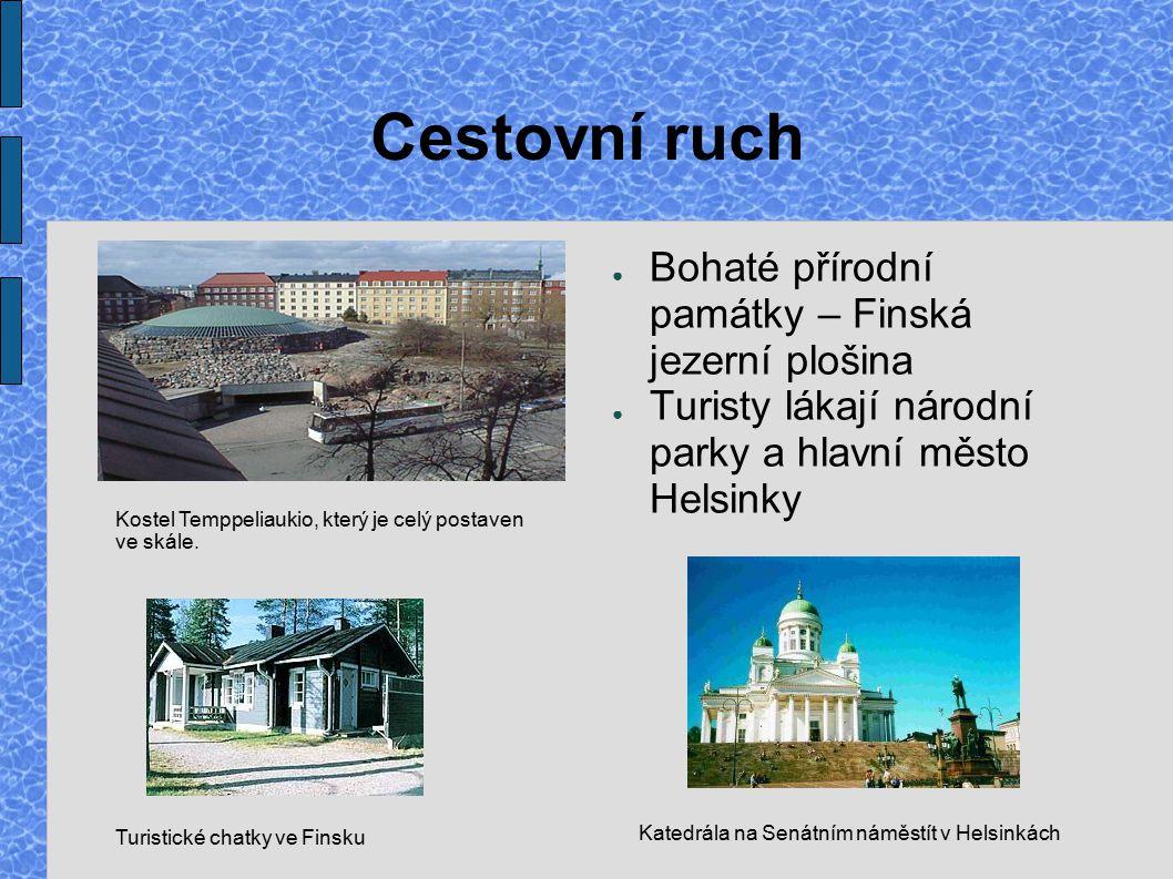 Turistické chatky ve Finsku
