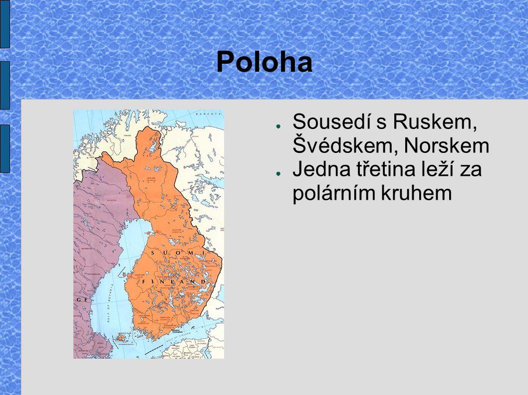 Poloha Sousedí s Ruskem, Švédskem, Norskem