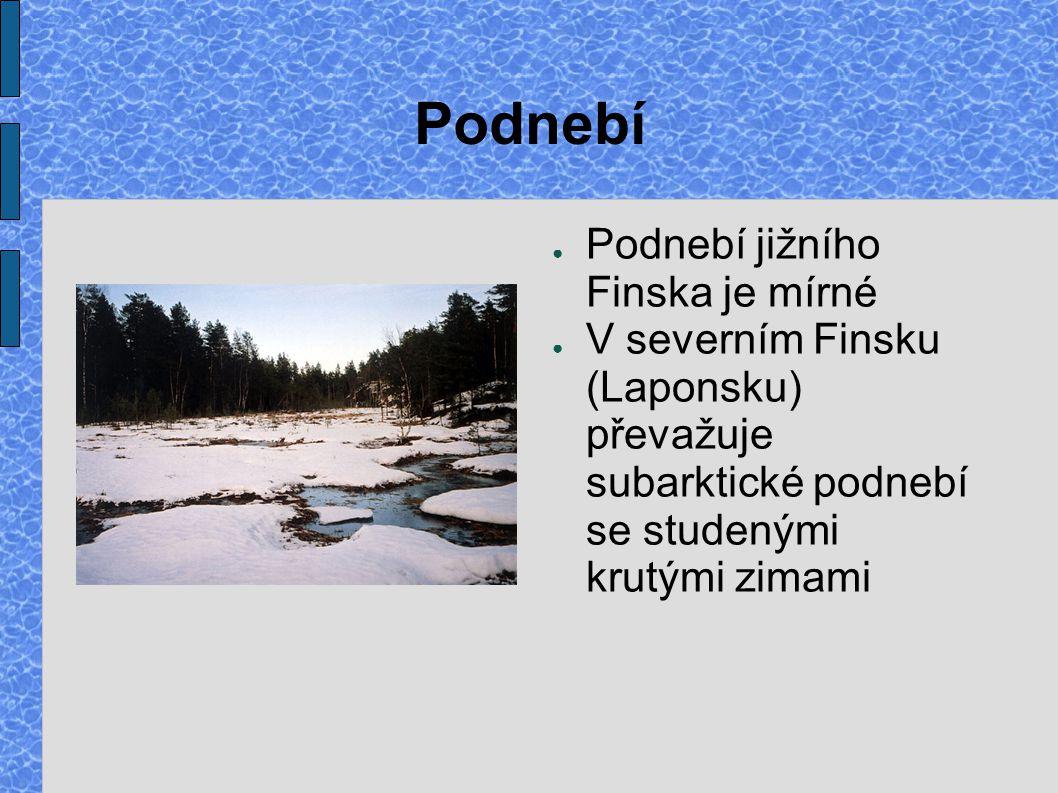 Podnebí Podnebí jižního Finska je mírné