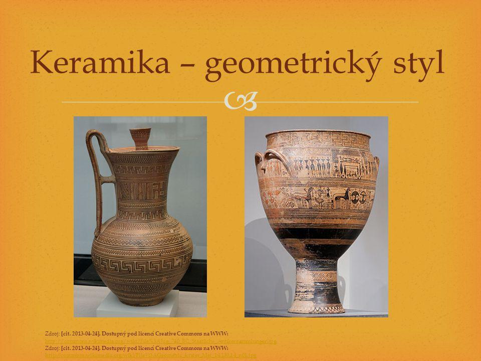Keramika – geometrický styl