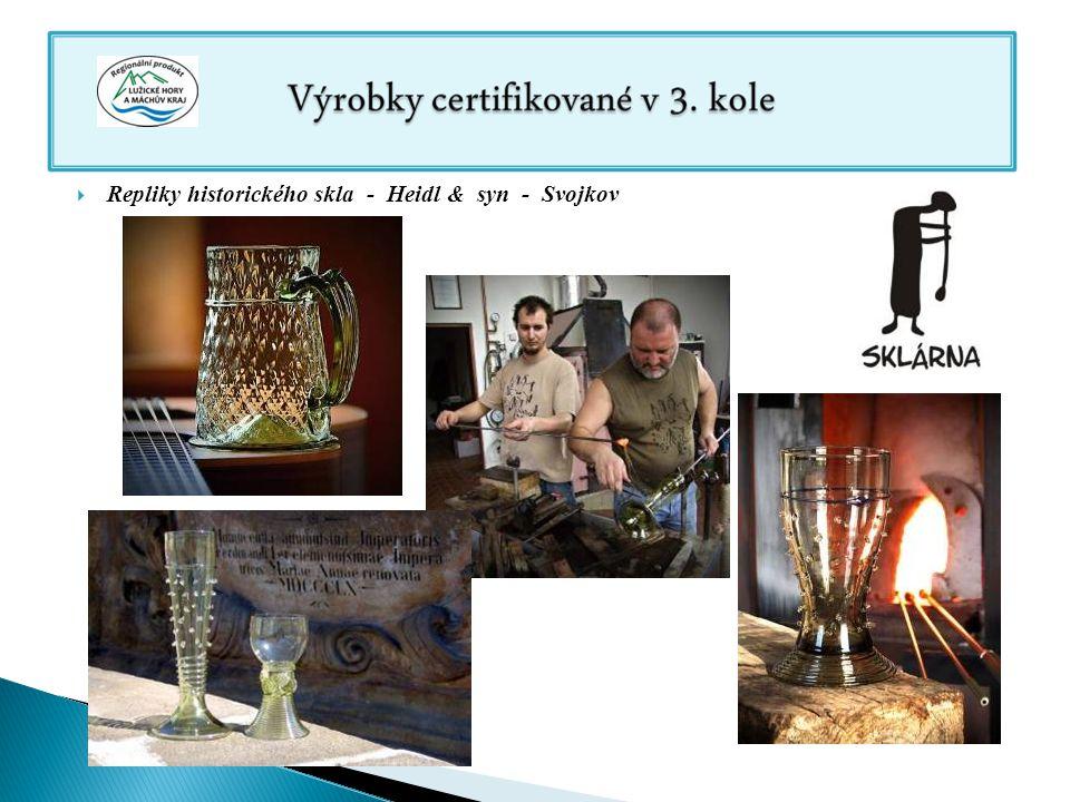 Repliky historického skla - Heidl & syn - Svojkov