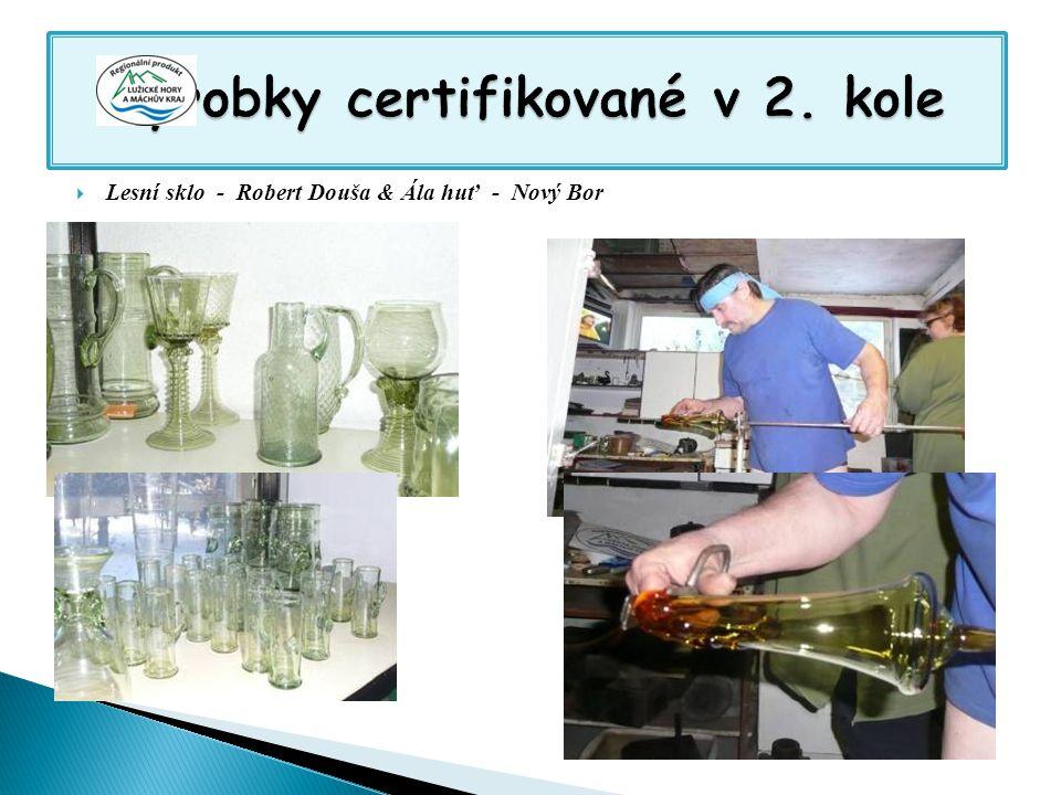 Výrobky certifikované v 2. kole