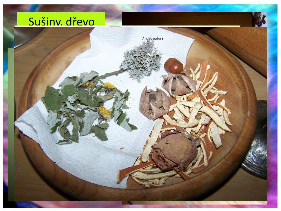 Sušiny, dřevo Různé floristické sušiny