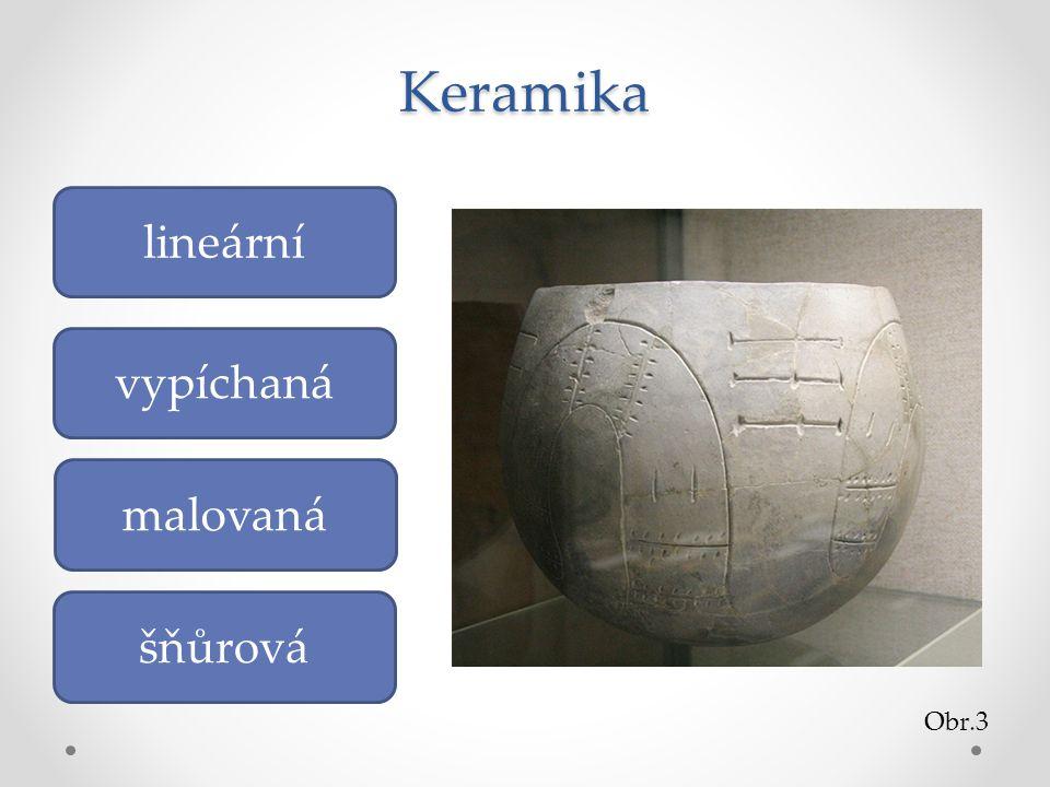 Keramika lineární vypíchaná malovaná šňůrová Obr.3