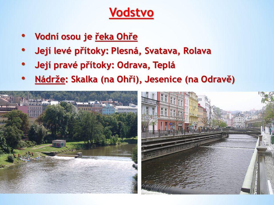 Vodstvo Vodní osou je řeka Ohře