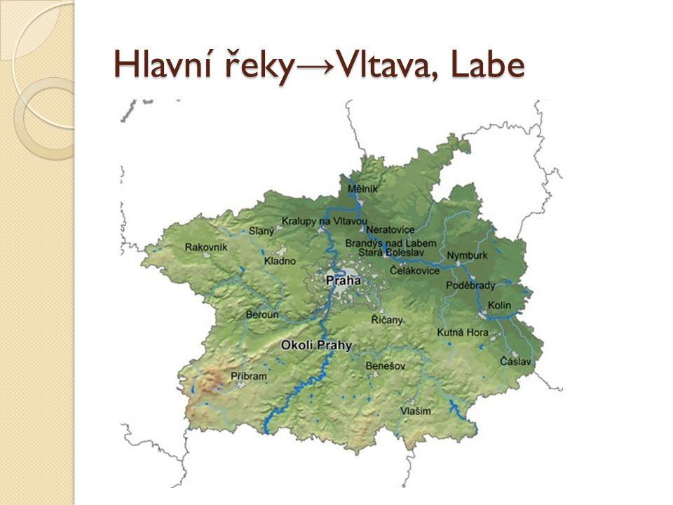Hlavní řeky→Vltava, Labe