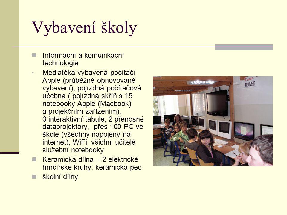 Vybavení školy Informační a komunikační technologie