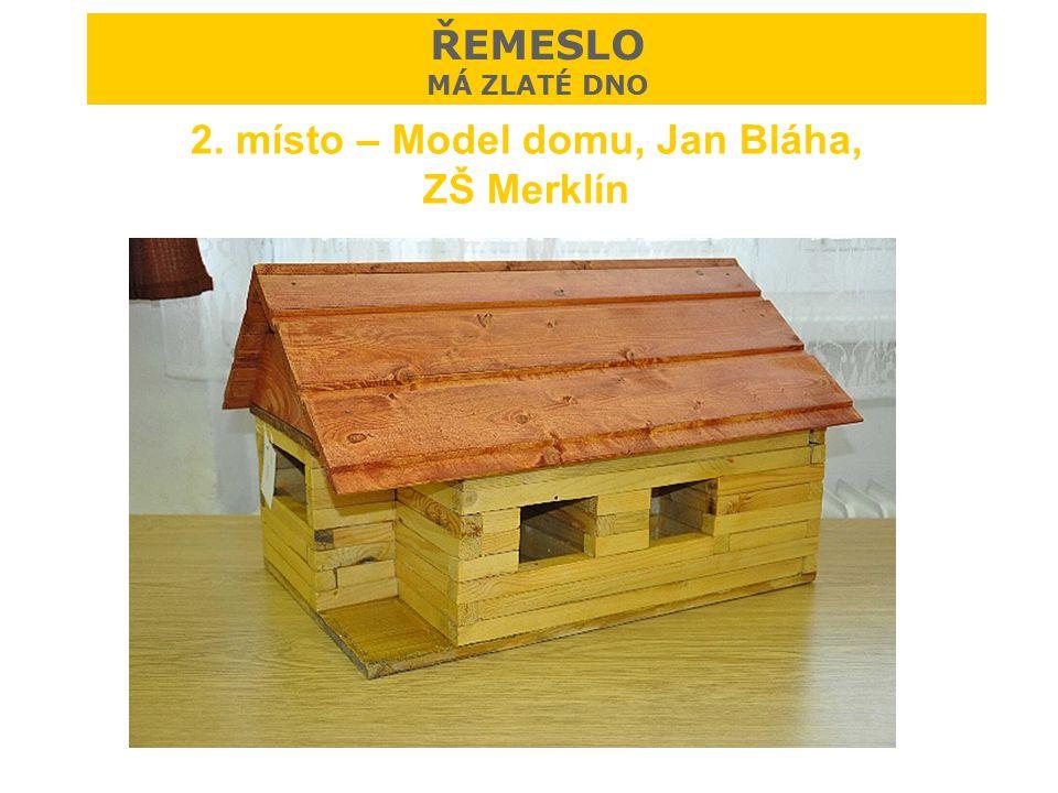 2. místo – Model domu, Jan Bláha, ZŠ Merklín