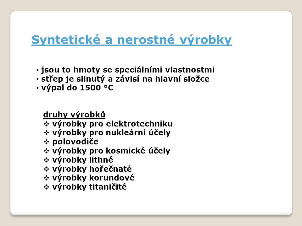 Syntetické a nerostné výrobky