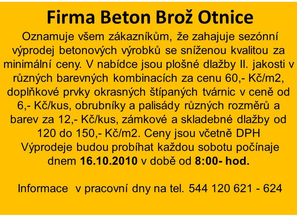 Firma Beton Brož Otnice