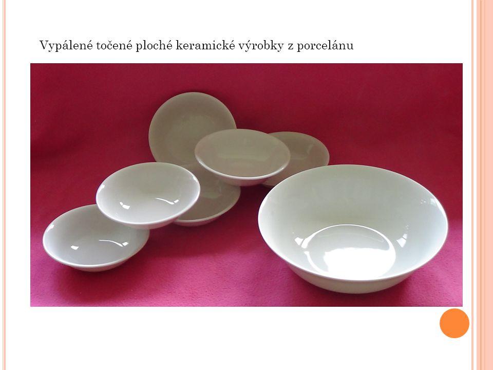 Vypálené točené ploché keramické výrobky z porcelánu