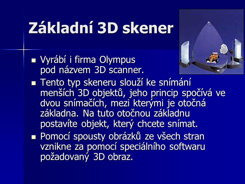 Základní 3D skener Vyrábí i firma Olympus pod názvem 3D scanner.