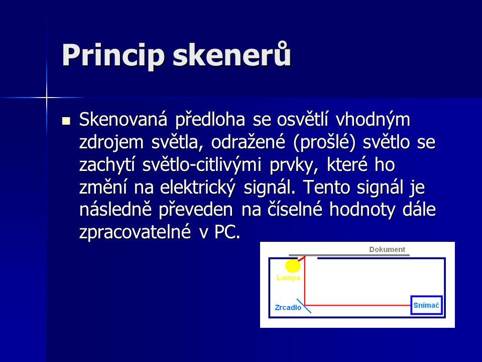 Princip skenerů