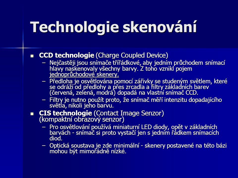 Technologie skenování