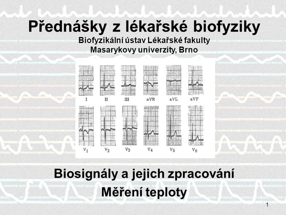 Biosignály a jejich zpracování
